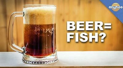 fish in beer