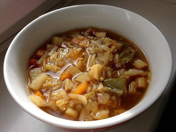 vegan soup in a bowl