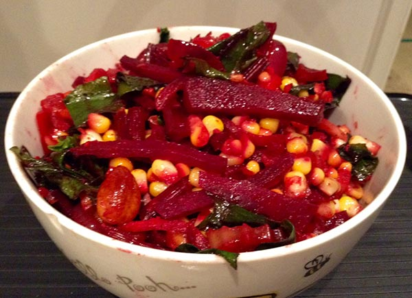 vegan beetroot stirfry