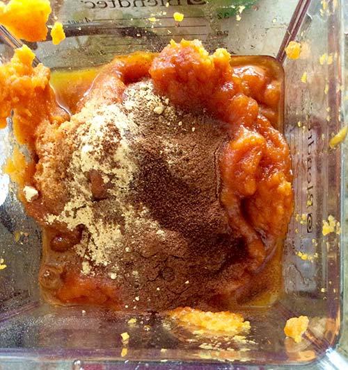 pumpkin pie mixture