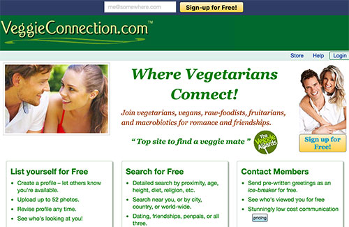 vegan dating site free