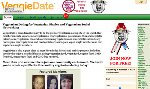 dating site vegan