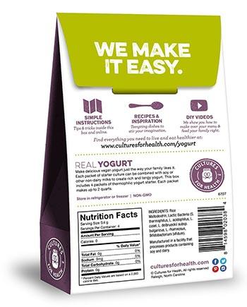 vegan yogurt culture kit